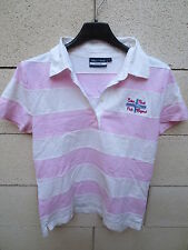 Polo EDEN PARK for her Team rose blanc femme 2 rugby shirt EP 87 broderie