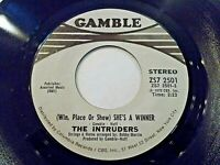 The Intruders She's A Winner / Memories Are Here To Stay 45 1972 Vinyl Record