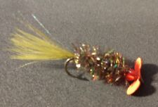 Freshwater/Trout, Brown Ugly Bug Spinner Fly, Red Prop, Size 6, Per 6, Hot Buy!