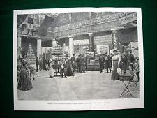 Napoli nel 1897 - Una sala dell'esposizione d'Igiene annessa al Congresso Medico