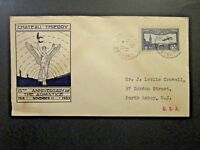 France 1933 Armistice 15th Ann WWI Cover / 1.5Fr Airmail - Z4750