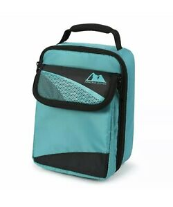 New Arctic Zone Hi-Top Thermal Teal and Black Insulated 2 Compartment Lunch Bag