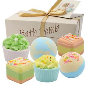 Cupcakes Bath Bombs 6 Pieces Gift Set Women Scented Moisturizes Regenerates Skin