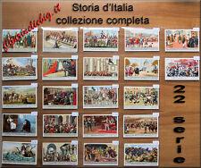 Collezione Liebig Storia d'Italia 22 serie figurine ITA Chromo Lotto Stock