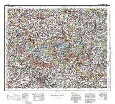 Mappa 1935 polacco MILITARE Kalisz Wroclaw area Polonia REPLICA poster stampa pam0494