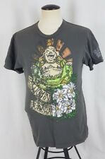 DOMREBEL DOM REBEL Graphic T-Shirt Blooming Laughing Buddha Men's Medium Small