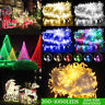 LED Fairy Lights 200/300/500/1000 LED Plug Wire String Christmas Party Decor New