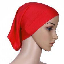Womens Under Scarf Tube Bonnet Cap Bone Islamic Head Cover Hijab Hair Wrap Loss