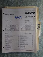 Sanyo Fisher dcs-m12 dc-d16 service manual original repair book stereo cd player
