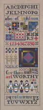 Cross Stitch Chart / Pattern Told In A Garden Amish Quilt Alphabet Sampler #TG46