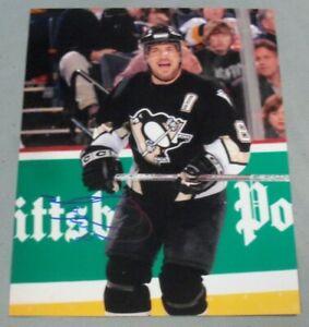 Mark Recchi, Pgh Penguins, Signed 8 x 10 Photo, Black Jersey