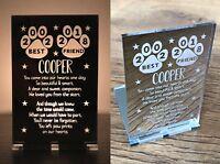 Personalised Pet Memorial In Memory Of Dog Cat Bereavement Candle Holder Gifts