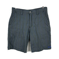 Oakley Mens Golf Shorts Size 33 Grey Check Good Condition