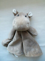 Blankets & Beyond Hippo Baby Lovey Security Blanket (B5)