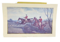 E.G. Hester A Fast Twenty Minutes Engraving English Hunt Horses Dogs Equestrian