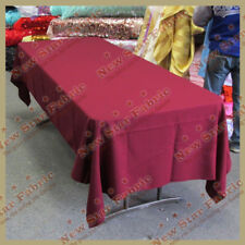 Tablecloth Rectangle Polyester / Polypoplin 58 X 108 inches Burgundy 117