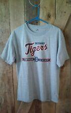 Detroit Tigers Baseball Shirt Large Grey Fan Apparel Lee Sport Crew Neck Cotton