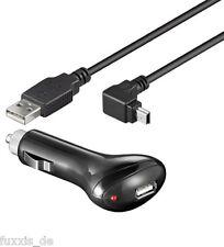 KFZ Adapter mit Ladekabel 12V/24V 1A USB mini für TOMTOM schwarz NEU