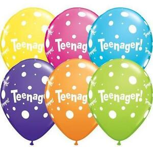 Age 13 13th Teenager Birthday Latex Balloons Party Decorations Quality Qualatex