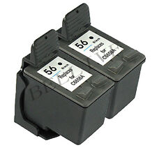 2 CARTUCCE RIGENERATO PER HP 56 / C6656A Photosmart 7260 7450  7760  7660  7550