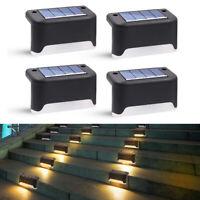 12x 8 Solar Powered Fence Outdoor Garden Wall Pathway Step Lamp Deck Lights Lamp