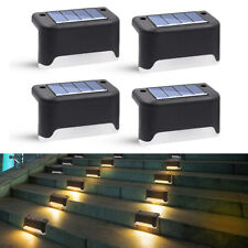 12x 8 Solar Powered Fence Outdoor Garden Wall Pathway Step Lamp Deck Lights Lamp