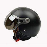New Motorcycle Helmets Retro 3/4 Open Face Scooter Helmet Riding Protective Gear
