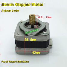 NEMA17 42MM 2-Phase 4-Wire Stepper Motor Helical 15 teeth 3D Printer CNC Robot