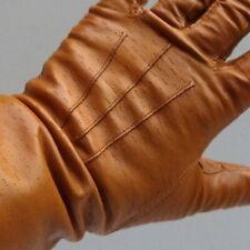 Vintage Women's Gauntlets Pigskin Peccary Leather Gloves Size 7 ½ Chestnut Brown