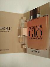 Giorgio Armani Acqua Di Gio Absolu Eau de Parfum Men's Sample Spray 1x 1.2ml
