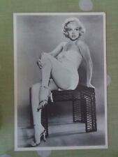 80s MARILYN MONROE large POSTCARD 50s glamour swimsuit sitting on wicker table