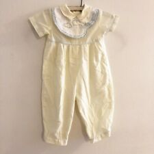 Carriage Boutiques Baby Boy Yellow Train Romper One Piece Size 6 Months