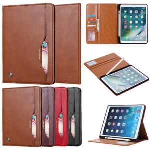 Folio PU Leather Wallet Case Stand Cover for iPad Mini Air Pro 12.9 11 9.7 10.2