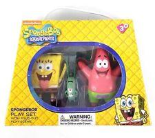 Spongebob Squarepants Universal Studios Parks Kids 3 Figures Play Set PVC Toys