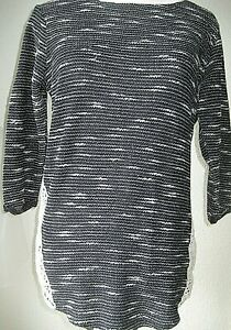 George Ladies Black/ silver long top/ dress  Size 12 new