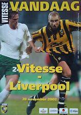 Programm UEFA Cup 2002/03 Vitesse Arnhem - Liverpool FC
