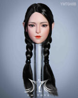 YMTOYS 1/6 Female Girl Head Carving Sculpt YMT048B fit 12'' Phicen Figure