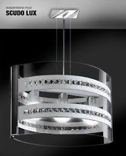 Lampadario In Cristallo E Plexiglass Sospensione 3Luci Design Moderno Soggiorno