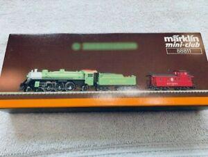 Marklin Z gauge mini-club # 88811 Southern Steam 4-6-2 Loco w/ Caboose