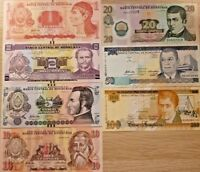 HONDURAS BANK NOTES LEMPIRAS 7 PCS SET UNC ND 2008 -2012