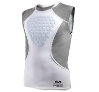 McDavid Heart Guard 7610 Youth / Adult Hex Sternum Shirt-White/Gray FREE POSTAGE