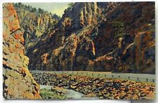 Thompson Canon Highway, Rocky Mountain National Park, CO Postcard C440