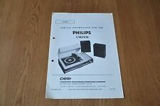 Philips 13RF838 Music Centre Workshop Service Manual