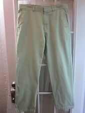 Authentic Lacoste Green Flate Front Chino Pant SZ Men's 34X31 **VG**