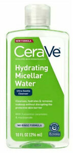 CeraVe Hydrating Micellar Water, Ultra Gentle Makeup Remover Cleanser, 10 fl. oz