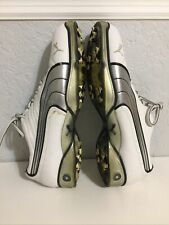 New listing Men's PUMA CELL Spike GOLF Shoes SZ 9 M White/Silver