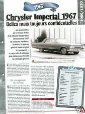 Chrysler Imperial Le Baron CY1-H Berline V8 1967 USA Car Auto Retro FICHE FRANCE