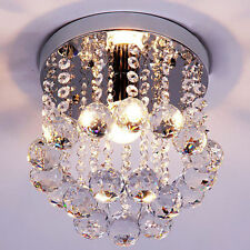 Modern Bedroom Crystal Pendant Lamp Flush Mount Lighting Ceiling Fixtures light