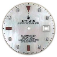 REFINED SUBMARINER SS WHITE MOP SERTI RUBY DIAMOND DIAL FOR ROLEX-40