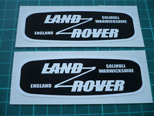 LAND ROVER Solihull Warwickshire England Stickers Decals - 120mm (Pair)